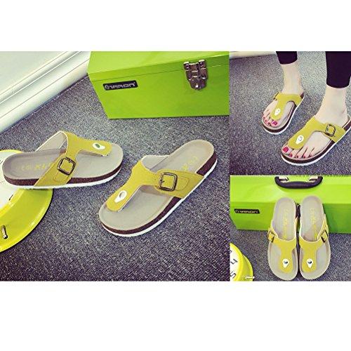 Vogstyle Unisex-Erwachsene Pantoletten Sandalen Art 2 Gelb
