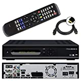 netshop 25 Micro M1 HD+ CI+ digitaler HD Twin Satelliten-Receiver (12 Moante HD+, Twin-Tuner, 1x CI+, HDMI, Ethernet, USB 2.0, PVR-Ready, Smart TV) schwarz
