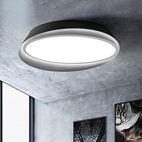 HBA Moderne intelligente Fernbedienung Eye LED Deckenleuchte, Fernbedienung dimmen Home Schlafzimmer Wohnzimmer Deckenlampe (Farbe: Schwarz, Größe: Weißes Licht-55 cm)