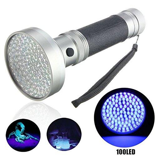 Global 100x LED uv détecteur de scorpion blacklight ultra-violet LED lampe de poche aa