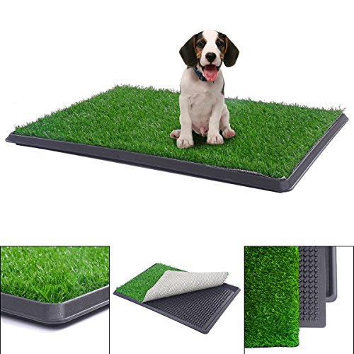 Unbekannt 76,2x 50,8cm Welpen Töpfchen Pee Innen WC-Hund Gras Pad Matte Turf Patch (Welpe Gras Pad)