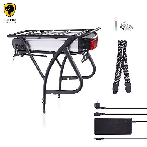 "E-Bike Pedelec Elektrofahrrad Akku Kit 26\""-28\"", 36V 18Ah, 649Wh (R2), Gepäckträger mit Ladegerät"