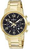Citizen AN8052-55E - Orologio da polso da uomo, cinturino in rivestito in acciaio inox colore oro