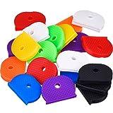 Willbond Juego de Cubierta de Llave de 24 Piezas Tapa de Llave Flexible para Fácil Identificación de Llaves de Puerta, 8 Colores