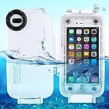 Egurs Underwater Waterproof Tauchhülle für iPhone 7 Plus iPhone 8 Plus, 40m Tiefseetauchhülle,...