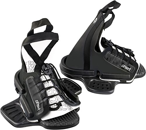 WAKETEC Wakeboard Bindung OnSet, Open Toe Boots mit Universal Base Plate (S-M)