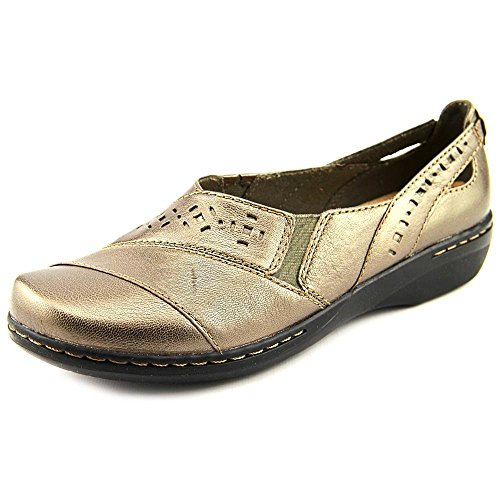 Clarks Evianna Fig Slip On Shoes Pewter