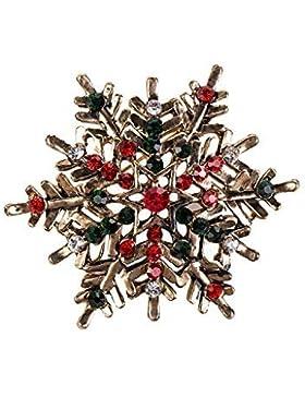 Festive Weihnachten Brosche Pin-Set 4-Kunstvoller Schneeflocke-UK Verkäufer