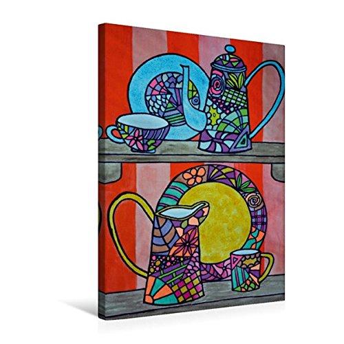 Calvendo Premium Textil-Leinwand 50 cm x 75 cm hoch, Ein Motiv aus Dem Kalender De Hessisch-Kalenner - hessisch babbele Lerne in aam Johr | Wandbild, Bild auf Leinwand, Leinwanddruck Kunst Kunst