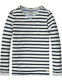 Scotch Shrunk Jungen T-Shirt 2-In-1 Style: Basic Double Layer V-Neck Tee