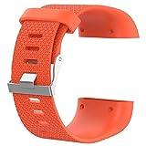Fitbit Surge Remplacement Bracelet Sangle, Rameng Silicone Réglable Bande de Sport Montres de Accessoirede (Orange)