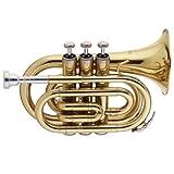 Stagg 059000 Trompette poche SIB + Etui Or
