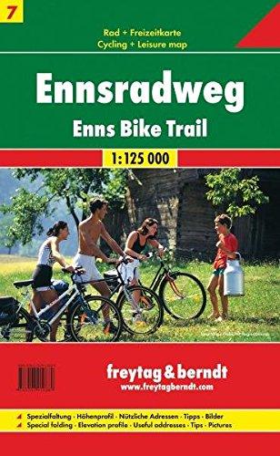 Enns. Bike trail 1:125.000 por Freytag-Berndt und Artaria KG