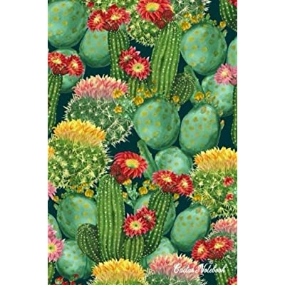 Cactus Notebook: 120 Blank Lined Page, 6X9 Inches, Beautiful Blooming Cactus Design (Volume 9)