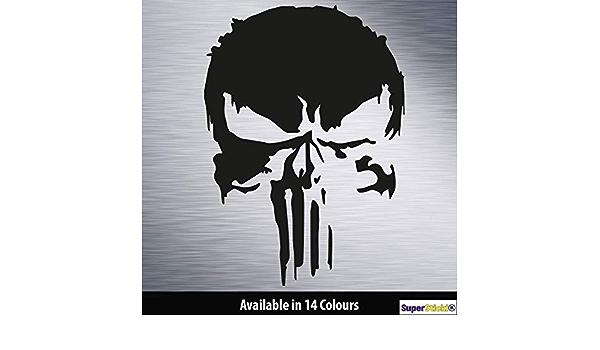 Supersticki Punisher Auto Aufkleber Ca 20cm Aufkleber Sticker Decal Aus Hochleistungsfolie Aufkleber Autoaufkleber Tuningaufkleber Racingaufkleber Rennaufkleber Hochleistungsfolie Für Alle Auto