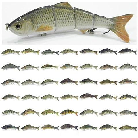 4 segmentos duro curricán señuelo cebos de pesca 15 cm/35g.