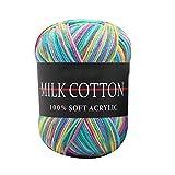 Kicode Gemischt 23 Farbe Knitting Crochet Tuch Weiche Wollgarn-Baby Baumwolle DIY Fertigkeit 50g