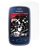 atFolix Panzerschutzfolie für Samsung Galaxy Pocket Neo (GT-S5310) Panzerfolie - 3 x FX-Shock-Antireflex blendfreie stoßabsorbierende Displayschutzfolie
