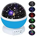 Sternenhimmel Projektor | Sterne Projektor | Nacht Licht Lampe | YIDERN Sternenhimmel Mond romantische rotierenden Projektion [ 4LED Perlen, 3Model Licht ] für Kinder Schlafzimmer (blau)
