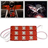 #3: Vheelocityin 9 LED Custom Cuttable Bike/ Car Red Light for Interior/ Exterior