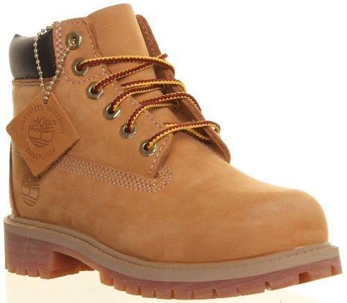 Timberland 12709 Youth 6 Inch Premium Waterproof Leather Boots  13 5 Child UK  Wheat