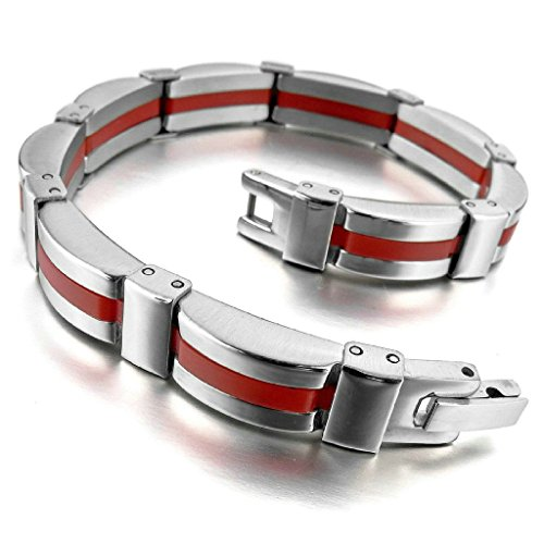 adisaer-acier-inoxydable-gourmette-hommes-bracelet-charms-biker-rouge-argent