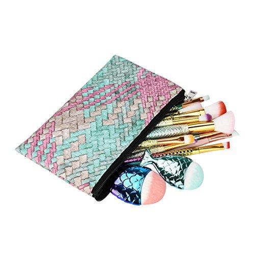 Pinceaux de Fondation,Saihui 5 Pcs Multifonctionnel Maquillage Brosse Concealer Fard À Paupières Brush Set Pinceau Maquillage Outil (Multicolore)