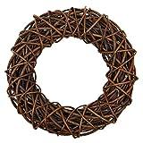 Puerta Decoración corona de mimbre marrón 35cm Accesorios decoración pistas
