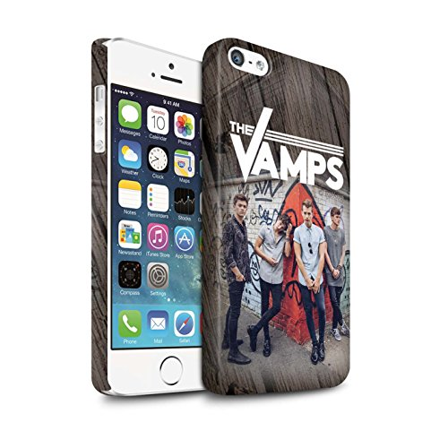 Offiziell The Vamps Hülle / Matte Snap-On Case für Apple iPhone 5/5S / Pack 6pcs Muster / The Vamps Fotoshoot Kollektion Holz-Effekt