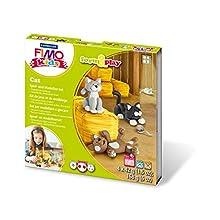"""Rayher 34420000 Fimo kids Form&Play """"Cat"""", 4 x 42 g, tab-box"""