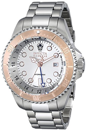 invicta-mens-reserve-hydromax-gmt-stainless-steel-silver-tone-dial-rose-tone-accents