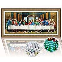 /Letzte Abendmahl 14/Count 61//× 37/cm yeesam Art/® New Kreuzstich Kits anspruchsvoll/ wei/ß Leinwand Naht Christmas Gifts