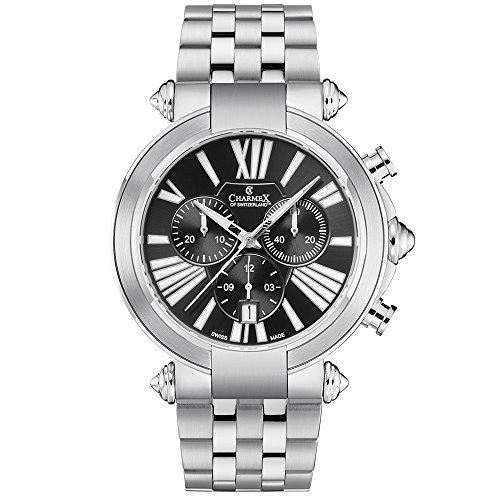 Charmex Men's Cambridge 41mm Steel Bracelet & Case Quartz Analog Watch 2791