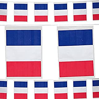 6m Wimpelkette * Frankreich * mit 11 Flaggen-Wimpel als Deko für Eine Länderparty // Motto Party Girlande Partykette