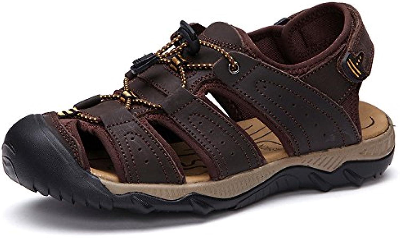 LEDLFIE Sommer Sandalen Strand Schuhe Freizeitschuhe DarkBrown 38LEDLFIE Sommer Sandalen Freizeitschuhe DarkBrown 38 Billig und erschwinglich Im Verkauf
