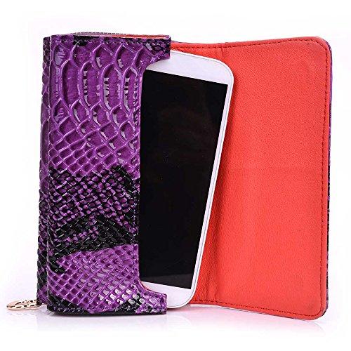 Kroo Smartphone Dragonne de transport Housse étui pour Samsung Galaxy S2SII Epic 4G Touch Š òuniversal Téléphone portable pochette en cuir, Cuir, violet, 5.7 x 3 x 0.5 inch