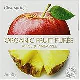 Clearspring Orgánica Apple y piña Puré de 2 x 100g