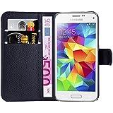 Hochwertige Kunst-Leder-Hülle mit Magnetverschluss für Samsung Galaxy S5 mini von mangao® Case Handytaschen