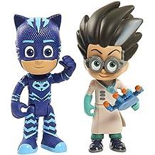 PJ Masks Pack de dos figuras Gatuno y Romeo (Bandai 24556)
