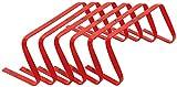 Precision 9 High Flat Hurdles Set - Red (Set Of 6)