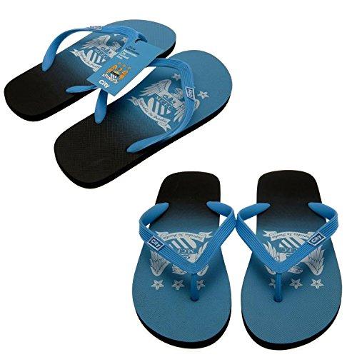 Manchester City F.C. Flip Flops Adult size 12 Official Merchandise by Manchester City F.C.