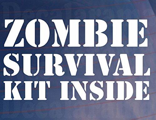 """Aufkleber, Aufschrift """"Zombie Survival Kit Inside"""", originell, Lustig, Witzig, Auto/Van/Fenster/Stoßstange (Auto Survival-kit Für)"""