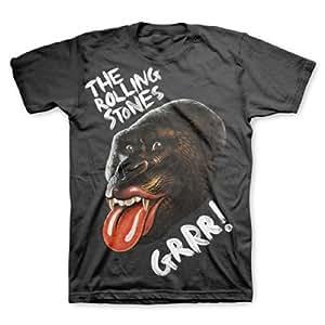 "T-Shirt Homme Noir Rolling Stones ""Grrr"" (Taille S)"