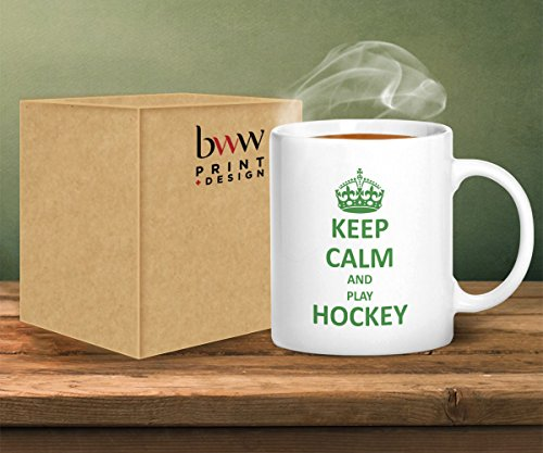 51HdDJWYOJL - Keep Calm And Play Hockey - Printed Mug - Printed Mug sports best price Review uk