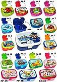 Brotdose / Lunchbox -  Schule ABC - Jungen  - incl. Name - mit herausnehmbaren Fach / extra Einsatz - Brotbüchse Küche Essen - für Kinder - Schulanfang - Ki..