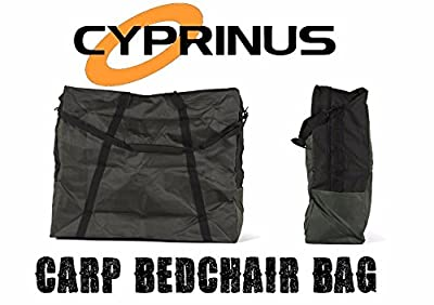 Cyprinus Green Large heavy duty carp fishing bedchair bed chair bag with padded Straps by Cyprinus