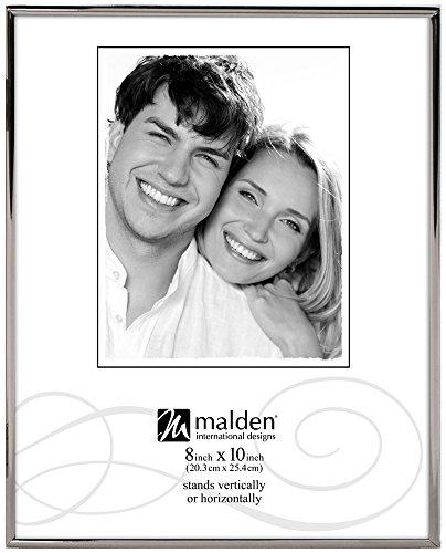 Internationale Silverplate (Malden International Designs Simplicity Bright Metal Bilderrahmen, 8x 10, Silber)