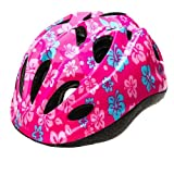 Kinder-Fahrradhelm für Jungen Größe S, Blau/Pink