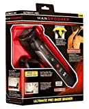 MANGROOMER Ultimate Pro Back Shaver with 2 Shock Absorber Flex Heads, Power Hinge, Extreme Reach Handle and Power Burst