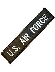 US Air Force USAF Name Tape Embroidered Milspec Combat Badge Fastener Patch